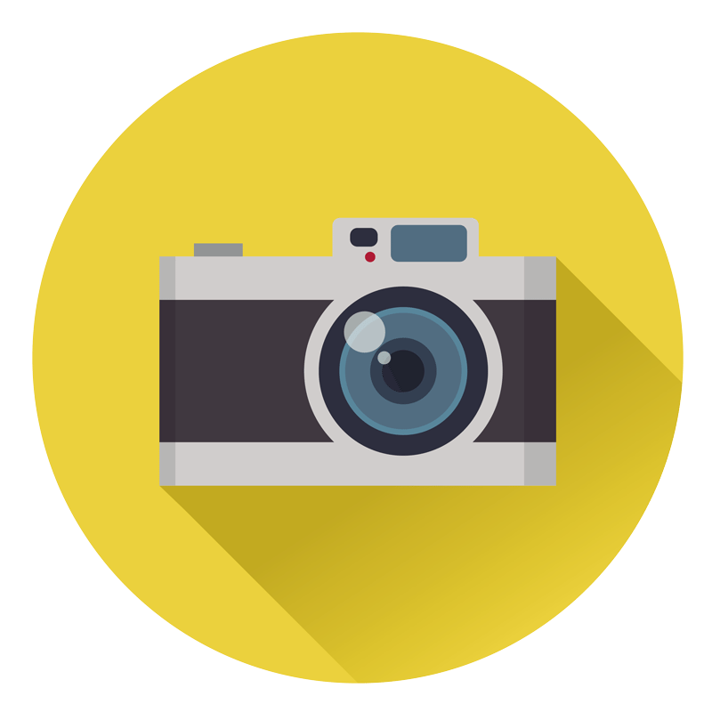 A camera to represent the websites that can be made for photographers to showcase their work to prospective clients.