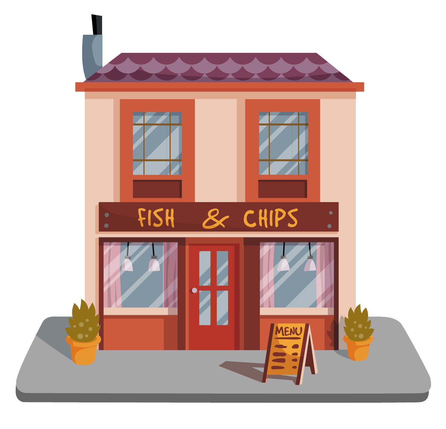 A restaurant to represent the website that could be made for your restaurant, coffee shop or food establishment.