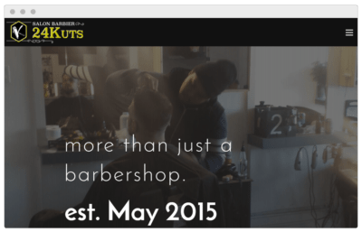 The 24Kuts Barbershop website made by Textperts