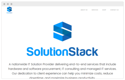 SolutionStack Website made by Textperts